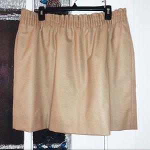 J. Crew Wool Skirt- Tan